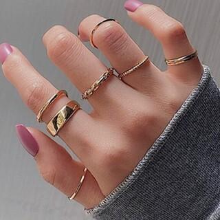 トゥデイフル(TODAYFUL)の7個入り シンプル リング セット ファランジリング 指輪(リング(指輪))