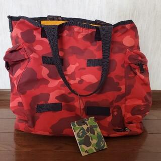 アベイシングエイプ(A BATHING APE)のB ape porter red camo tote bag 赤(トートバッグ)