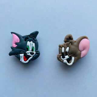 ジビッツ トムとジェリー 2個セット 可愛い クロックスアクセサリー(キャラクターグッズ)