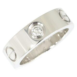 カルティエ(Cartier)の カルティエ リング ラブリング ハーフダイヤ K18WG(リング(指輪))