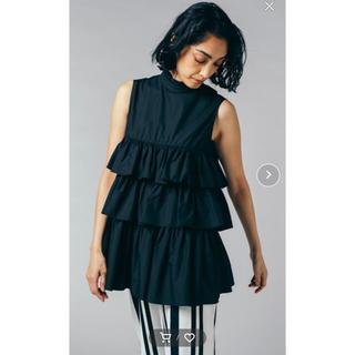 DOUBLE STANDARD CLOTHING - ダブルスタンダードクロージング T/Cブロード ノースリーブブラウス