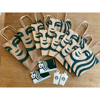 Starbucks Coffee - スターバックス 紙袋 小、中 メッセージタグ  カードケース(台紙)のセット