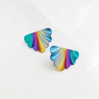 アッシュペーフランス(H.P.FRANCE)のRetro * metallic rainbow pierce(ピアス)
