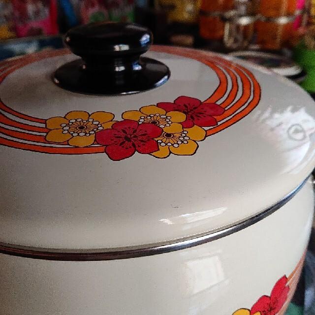 富士ホーロー(フジホーロー)の昭和レトロ ハニーウェア 両手鍋 インテリア/住まい/日用品のキッチン/食器(鍋/フライパン)の商品写真