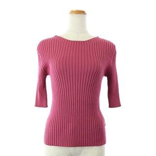 リランドチュール(Rirandture)のリランドチュール リブニット セーター カットソー 七分袖 2 ピンク(ニット/セーター)