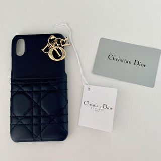 クリスチャンディオール(Christian Dior)のDIOR ディオール iPhonexs・X用 ケース ネイビー(iPhoneケース)