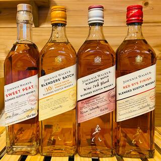 【送料込・お買い得】ジョニーウォーカー 4本セット(ウイスキー)