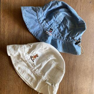 mikihouse - 幼児 綿100 帽子 ミキハウス ダブルビー サイズ52