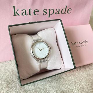 kate spade new york - ケイトスペード ウォッチ 腕時計 クリア ホワイト フラワー スペードフラワー