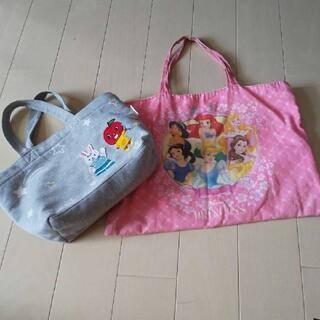 ディズニー(Disney)の女の子 レッスンバッグ トートバッグ 2個セット ディズニープリンセス(バッグ/レッスンバッグ)