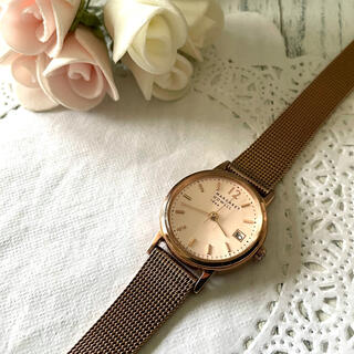 マーガレットハウエル(MARGARET HOWELL)の【動作OK】MARGARET HOWELL 腕時計 ピンクゴールド(腕時計)