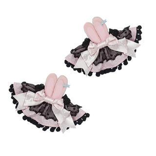 Angelic Pretty - Angelic Pretty*Moco moco Bunnysお袖とめ*クロ