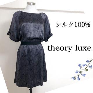 セオリーリュクス(Theory luxe)のセオリーリュクス(40)シルク100%チュニックワンピース (チュニック)