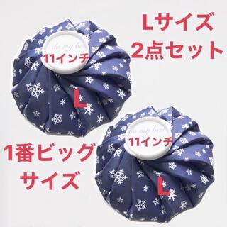 2点 L 雪柄 氷のう 氷嚢 アイスバッグ アイシングバッグ 熱中症 新品冷温