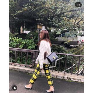 Drawer - 神崎恵 外村久美子 ドゥロワー ケーブル エルボーパッチ ファー カーデ ネイビ