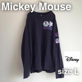 ディズニー(Disney)のMickey Mouse Disney ミッキーマウス ディズニー ロンT 長袖(Tシャツ/カットソー(七分/長袖))