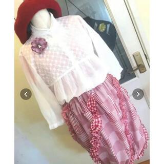 チチカカ(titicaca)のチェック柄バルーンスカート(ひざ丈スカート)