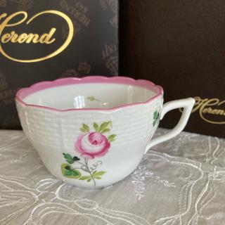 ヘレンド(Herend)のヘレンド ウイーンの薔薇ピンク ティーカップ(食器)