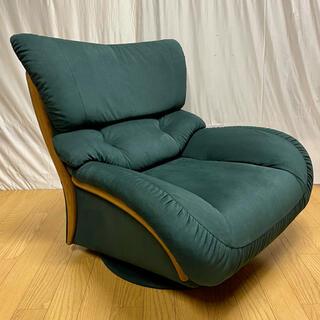 カリモクカグ(カリモク家具)の【karimoku】肘掛椅子(回転式)UT4707A825('01年製)No.2(一人掛けソファ)