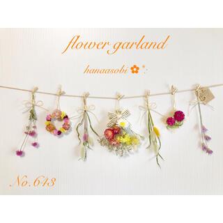 643  ♡お花いっぱい♡ドライフラワーガーランド♡    (ドライフラワー)