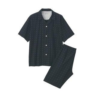 ムジルシリョウヒン(MUJI (無印良品))の無印良品 脇に縫い目のない ジャガードパジャマ  紳士L~XL 黒柄(その他)