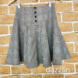 ダズリン(dazzlin)のダズリン  チェック柄フレアミニスカート  フリーサイズ(ミニスカート)