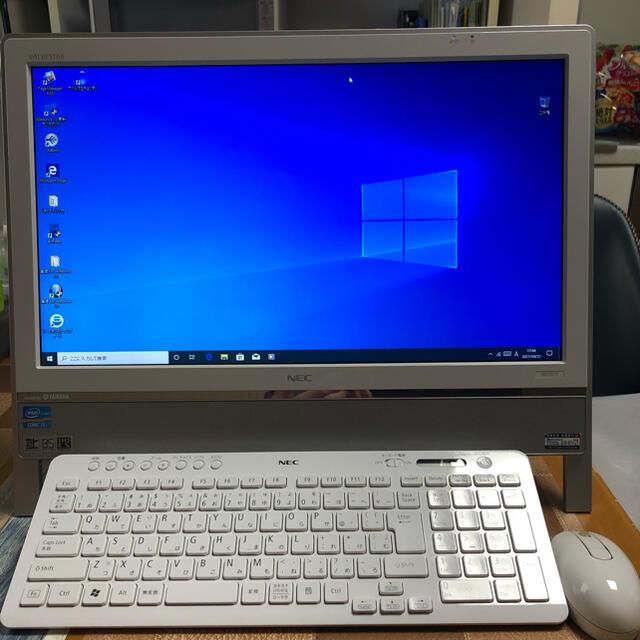 NEC(エヌイーシー)のNEC 770es6w 一体型デスクトップ スマホ/家電/カメラのPC/タブレット(デスクトップ型PC)の商品写真