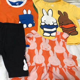 グラニフ(Design Tshirts Store graniph)の【まみんこ様専用】ミッフィー グラニフ3点+ミッフィーショートパンツセット(Tシャツ/カットソー)