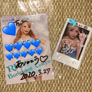 バーレスク東京 rio りお チェキ ブロマイド サイン入り(アイドルグッズ)