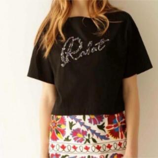 グレースコンチネンタル(GRACE CONTINENTAL)のグレースコンチネンタルビジューTシャツ(Tシャツ(半袖/袖なし))