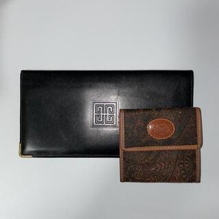 ジバンシィ(GIVENCHY)のジパンシー 長財布 コインケース付 ブラック(長財布)