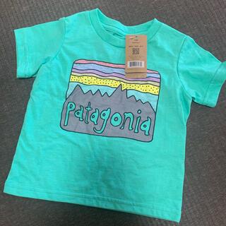 パタゴニア(patagonia)のパタゴニアベビー Tシャツ 人気 インスタ 半袖 夏服 ロゴ グリーン(Tシャツ)