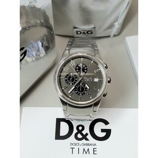 DOLCE&GABBANA - 極美品 腕回り20.5cm ドルガバ 「サンドパイパー」 クロノグラフ D&G