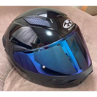 オージーケー(OGK)のOGKカブトRYUKI Sサイズ 20年5月製造 ブルーミラーシールド付き (ヘルメット/シールド)