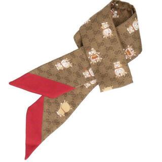 グッチ(Gucci)の希少 GUCCI 牛ドラえもん ネックボウ スカーフ ツイリー(バンダナ/スカーフ)