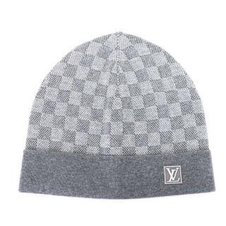 ルイヴィトン(LOUIS VUITTON)のLOUIS VUITTON ニット帽 ボネ プティ ダミエ ウール A4662(ニット帽/ビーニー)