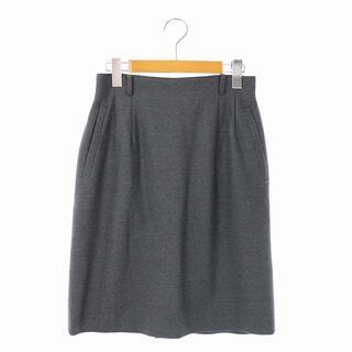 クリスチャンディオール(Christian Dior)のクリスチャンディオール ヴィンテージ ウール スカート タイト 膝丈 L グレー(ひざ丈スカート)