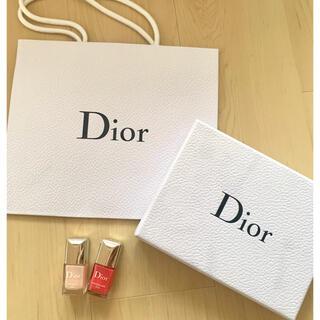 ディオール(Dior)のDior box ショップバッグ ネイルポリッシュ(ネイル用品)