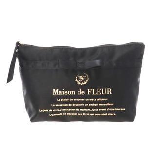 Maison de FLEUR - サテンブランドロゴポーチ メゾンドフルール