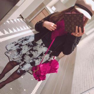 グレイル(GRL)の花柄スカート(ひざ丈スカート)