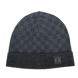 ルイヴィトン(LOUIS VUITTON)のLOUIS VUITTON ニット帽 ボネ プティ ダミエ ウール A4661(ニット帽/ビーニー)