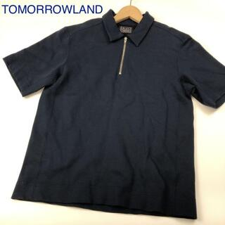 トゥモローランド(TOMORROWLAND)のTOMORROWLAND ハーフジップカットソー ネイビー 2257(ポロシャツ)