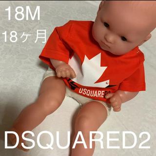 コウノトリのデザインが可愛いTシャツ DSQUARED2 baby