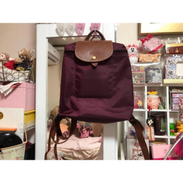 LONGCHAMP(ロンシャン)の♡ロンシャン ル プリアージュ バックパックパープル♡ レディースのバッグ(リュック/バックパック)の商品写真