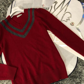 モンクレール(MONCLER)のモンクレール 国内正規品 セーター サイズXL ボルドー 美品(ニット/セーター)