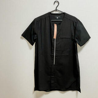 ブラック シャツ 半袖 黒 麻(シャツ)