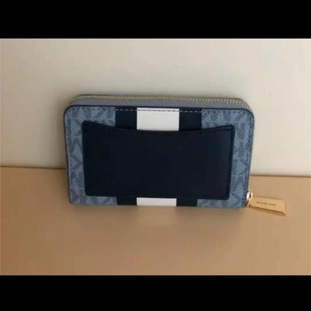 Michael Kors(マイケルコース)のマイケルコース パスケース カードケース コインケース ブルー系 レディースのファッション小物(名刺入れ/定期入れ)の商品写真