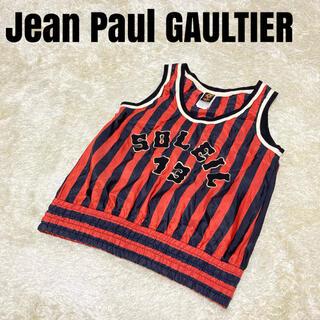 Jean-Paul GAULTIER - ジャンポールゴルチエ ソレイユ タンクトップ ナイロン ノースリーブ 赤×黒