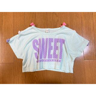 しまむら - ◻️【 100cm 】エンジェルラブ トップス 肩あき Tシャツ