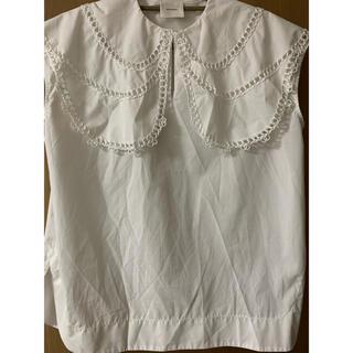 yori☆ループ刺繍セーラブラウス ホワイト 36サイズ(シャツ/ブラウス(半袖/袖なし))
